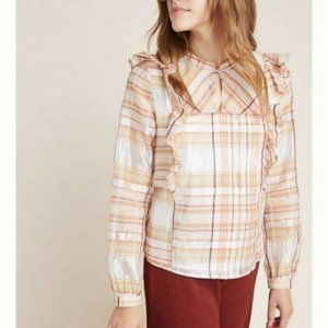 Current Air Polly Ruffled Peasant Blouse